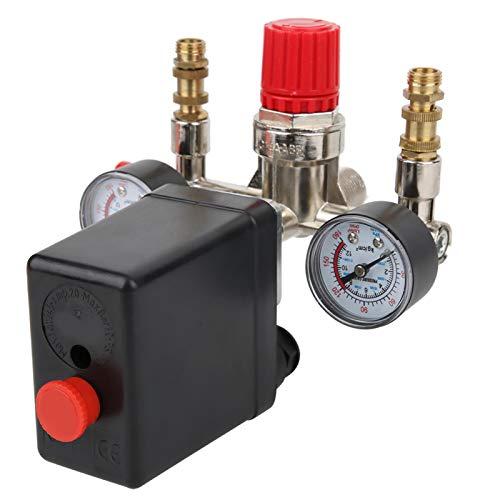 Regulador de presión, Interruptor de presión de Contacto NC para Uso General para Controlador de presión para compresor de Aire para Uso Profesional