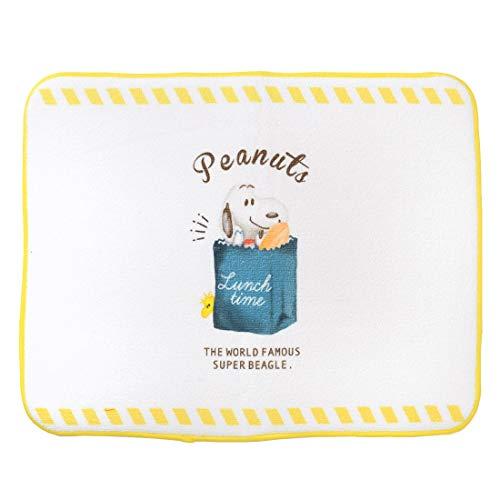 食器乾燥マット 水切りマット 大判 スヌーピー PEANUTS 吸水 大きめ シンクマット 食器 ドライングマット 布 おしゃれ かわいい キャラクター