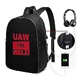 UAW ON Strike Zaino USB Carry On Bags Zaino per laptop da 17 pollici per bus da viaggio