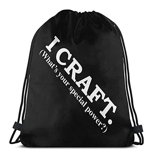J-S bolsa con cordón I Craft Whatâ€s Your Special Power Gym Sack School Bag para mochila