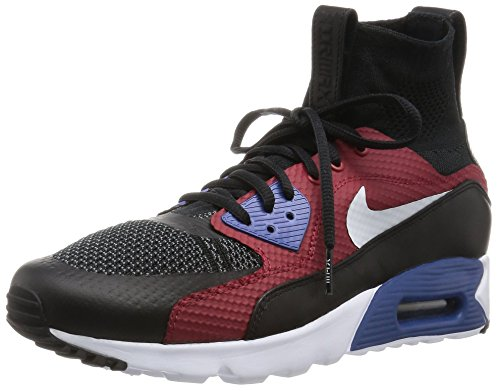 Nike Air Max 90 Ultra Superfly Mens Running Trainers 850613 Sneakers Shoes (UK 10 US 11 EU 45, Black White Dark Grey 001)