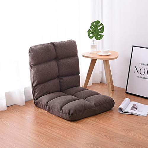 LXYStands slaapbank, multifunctioneel, opvouwbaar, tatami, fauteuil (kleur: bruin)