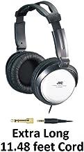 JVC Over-the-Ear Comfortable Stereo Headphones with Extra Long 11 feet Cord, 40mm driver & Adjustable Cushioned Headband for Sony CMTBX20i, CMT-FX300i, CMT-LX20i, CMTMX500i, CMTMX700Ni, LBT-LCD77Di, LBTZUX9, LBT-ZX66i, LBT-ZX99i, MHC-EC69i, MHCEC709iP, MH