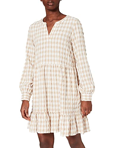 VERO MODA Damen VMKIMI W/L Short Dress WVN Kleid, Snow White, L(32)