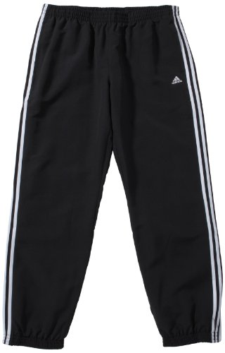 adidas Herren Hose Essentials 3-Stripes Woven Closed Hem Trainingshose, Black, S