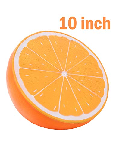 Sinofun 10 inch Giant Orange Squishy, Fruit Slow Rising Squeeze Toys, Gift for Boys and Girls