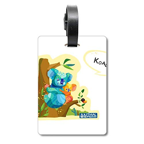 Australia Koala and Eucalypt Watercolor Cruise Suitcase Bag Tag Tourister Identification Label