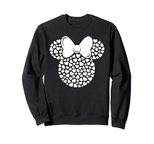Disney Minnie Mouse Icon Filled with White Hearts Sudadera