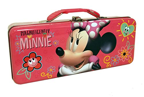Minnie Pencil Box with Handle Tin Carry All