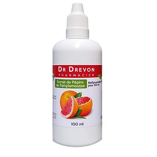 Extrait de pépins de pamplemousse EPP 1400mg • Dr Drevon • SANS amertume • Flacon de 100ml • Vitalité • défense immunitaire • Antibiotique naturel
