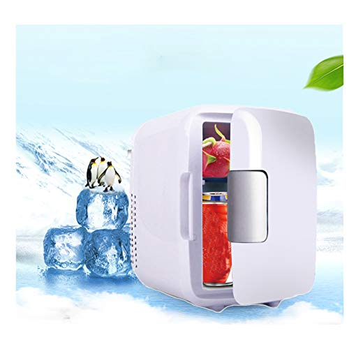 LKOPYUo Mini nevera, congelador portátil para coche, calentador para coche, piezas universales para vehículos de poco ruido para el cuidado de la piel, dormitorio, oficina, cosméticos, regalo de viaje