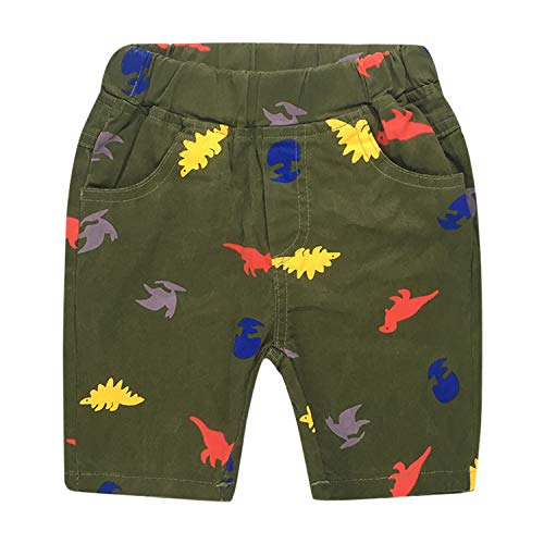 De feuilles Kinder Tarnung Shorts Elastisch Waist Kurz Hosen mit Taschen Sommer Trousers für Jungen und Mädchen