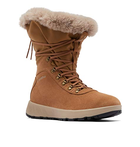 Columbia Women's SLOPESIDE Village Omni-Heat HI Snow Boot, Elk/Autumn Orange, 5.5