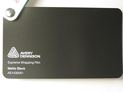 (26,58€/m2) Avery Supreme Wrapping Film Serie Schwarz Matt gegossene Autofolie 200 x 152 cm Zuschnitt