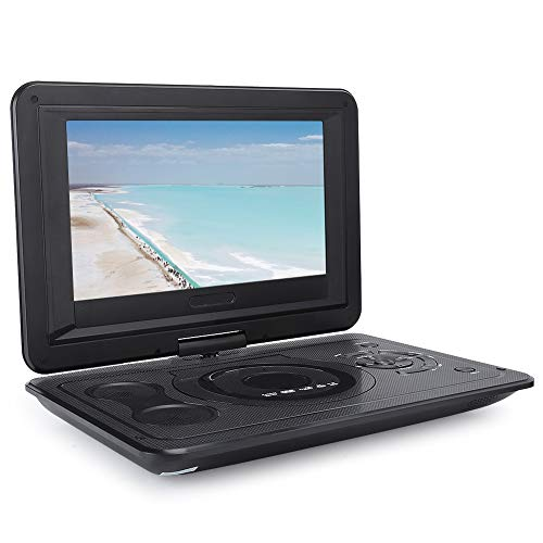 Annadue Reproductor de DVD EVD portátil/Pantalla LCD de 13,9 Pulgadas para niños, con función de TV/FM/USB/Juego, función de Memoria de Falla de energía Inteligente (EU)