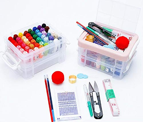 YOUZHI Kit de costura, accesorios de costura, kits de costura para adultos, principiantes, emergencias, campistas, viajes, casa, con tijeras, hilo, aguja.