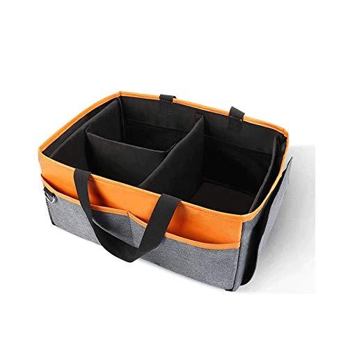 WYBFZTT-188 Pañal del bebé Caddy Organizador, Basket, Nursery Cuba de Almacenamiento de Tabla cambiante del Cambio del pañal, Organizador del Coche portátil for Viajes
