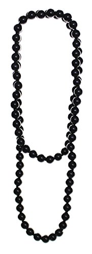 budawi® - schwarze Obsidian Kette Halskette Kugel 8 mm Länge 80 cm endlos, Obsidiankette