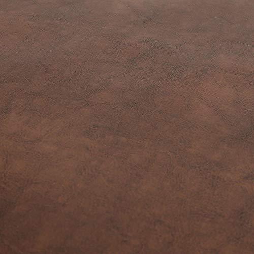 Yorkshire Fabric Shop Calidad Patrimonio años Brillo Brillante con Efecto de Vinilo de Piel sintética para tapicería Material Tela en marrón Caramelo Color (10m)