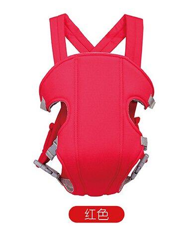 Flikool Ergonomico Fular Portabebes Respirable Mochila Portador de Bebe 3 en 1 Front Back Baby Safety Carrier Infant Comfort Backpack Sling Wrap - Rojo