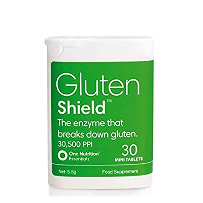 One Nutrition Essentials Gluten Shield – The Enzyme That Helps Break Down Gluten - 30,500PPI – Easy to Use – Vegan – 30 Mini Tablets
