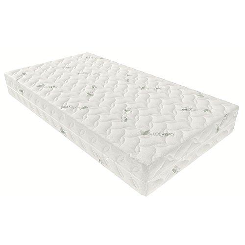 Inter handel Aloevera matras Aloevera-koudschuim, 100% polyester, 90x200 cm