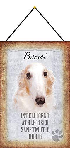 Cartel de chapa FS Borsoi para perros, inteligente, atlé