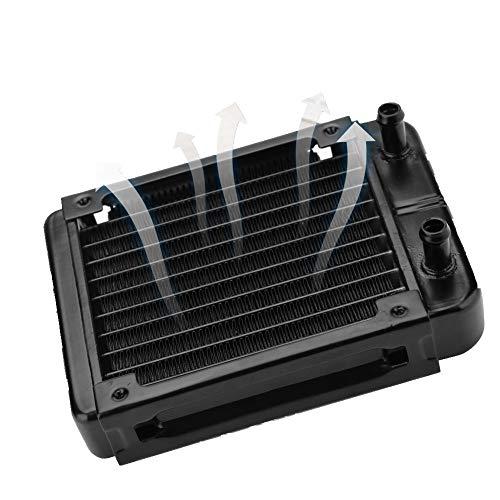 Radiatore di raffreddamento ad acqua da 120 mm, ultimo dissipatore di calore a liquido a 10 tubi con raffreddamento a U a forma di U per radiazione termica, scambiatore di calore adatto per tubi da 8-
