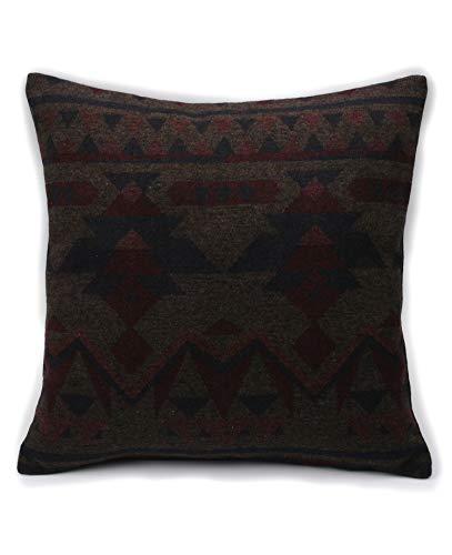 Ruth&Boaz Inka Pattern Square Decor Pillow Case Cushion Cover (F-Navy, 18\'x18\')