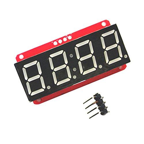 F Fityle 0,56'4-Stellig 7-Segment LED Display Modul Ht16k33 12C für Arduino, 5,03 × 2,68 × 1,2 cm