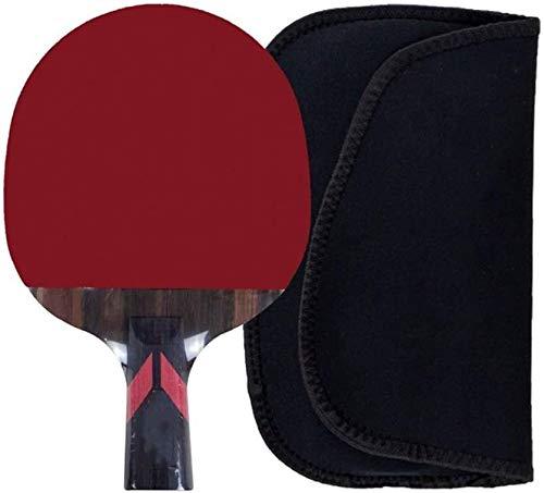 Sets de ping pong Los murciélagos Mesa de ping pong mesa de Paddle tenis profesional inversa doble de goma Formación de Adultos Estudiante Tabla raqueta de tenis de 15x24cm Duplex paleta de ping pong