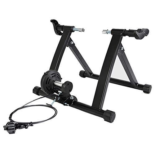 ADUGEN Rulli per Bici da Corsa rulli MTB Rullo per Bicicletta Allenamento Cyclette Resistenza Macchina per Allenamento Fitness Allenamento Indoor,Nero