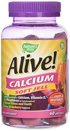Alive! Calcium Soft Jells with Vitamin D3 - 60 chewable gummies