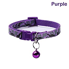 halotiky Cute Pet Collar Bell 1pc Polyester Fabric Adjustable Camo Leash Kitten Chain Necklace Neck Strap