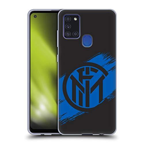 Head Case Designs Ufficiale Inter Milan Tratti di Pennello Grafici Cover in Morbido Gel Compatibile con Samsung Galaxy A21s (2020)