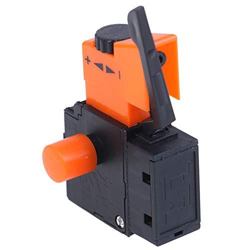 1 unidad AC 220 V / 6A FA2 / 61BEK interruptor de velocidad ajustable Metal plástico para interruptores de gatillo de taladro eléctrico