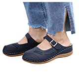 Aniywn Womens Closed Toe Sandals Comfortable Breathable Summer Wedge Shoes Non-Slip Hollow Out Beach Wedge Sandal Blue