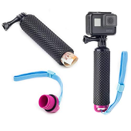 Digicharge Floating Handle Grip Mount with Hand Strap for Action Cam GoPro...