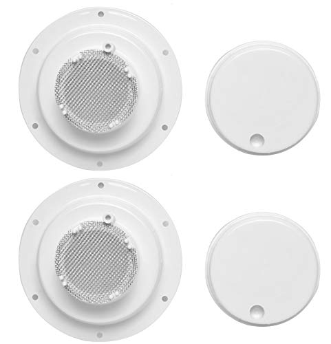 wadoy RV Plumbing Vent Caps with Vent Screen, Camper Vent Cap for 1 to 2 3/8' Pipe, RV Sewer Vent Cap Replacement (2 Pack)