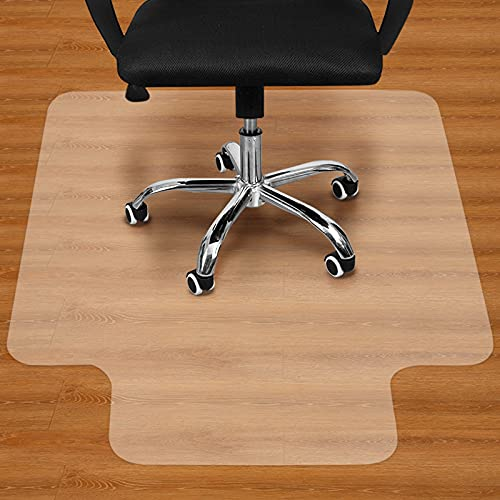 """Office Chair Mat for Hardwood Floor - 36""""x48"""" Clear PVC Desk Chair Mat - Heavy Duty Floor Protector for Home or Office - Easy Clean and Flat Without Curling"""