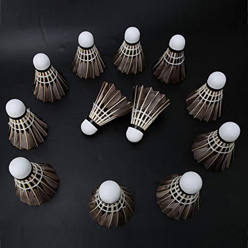 DAUERHAFT Palla da Badminton Liscia e Spessa di buona Resistenza per Principianti
