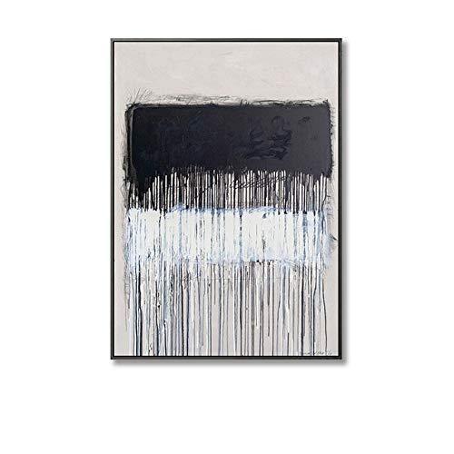 LiMengQi2 Minimalista Pared Arte Lienzo Pintura Moderno Abstracto Color Bloque Arte Cartel impresión Sala decoración nórdica (sin Marco)