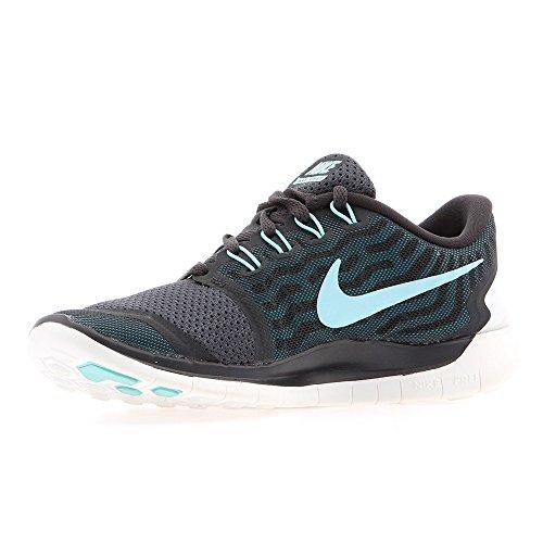 NikeFree 5.0 - Zapatillas de Running Mujer, Gris (Anthracite / Copa Black Bl Lgn), 36