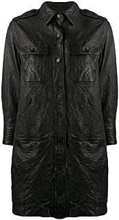 LUST FOR PELLE nero camicia abito da donna