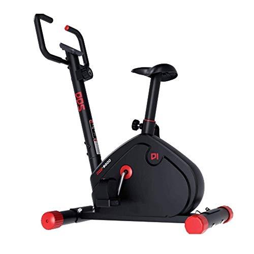 UIZSDIUZ Cubierta Bicicleta estacionaria con Bandas de Resistencia Ajustables Brazo y Monitor LCD, Diseño Rueda de Movimiento fácil, Conveniente for Gimnasio en casa