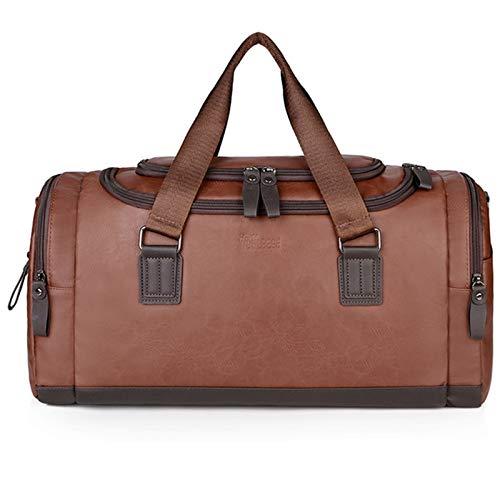Yingm Borsa da Viaggio per la Casa Travel Bag Business Trip Borsa degli Uomini di Spalla del Sacchetto Abbigliamento Scarpe Ripostiglio Design Pratico (Colore : Marrone, Size : 48x24x26cm)