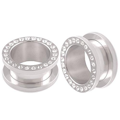 bodyjewelry top tunnle steel w/gem cl 16mm-de