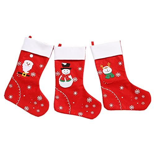 Medias De Navidad, Calcetines Decoración De Bolsas, Calcetines De Navidad Hombre Viejo Muñeco De Nieve Elk Accesorios Navideños para El Hogar