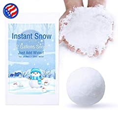 Just add water and watch it erupt into snow in seconds! No stirring or mixing is required. Non-toxic and fully safety tested. Looks and feels like real snow! Perfect for snow party decorations, Frozen theme birthday parties, winter snow photography, ...