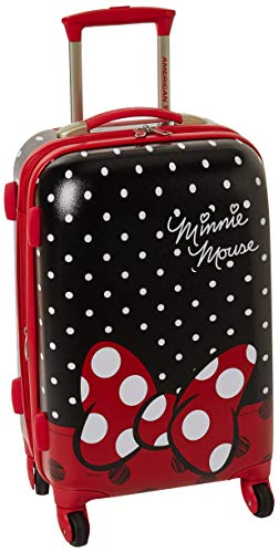 American Tourister Disney Hardside Luggage with Spinner Wheels, Minnie Mouse Red Bow,...